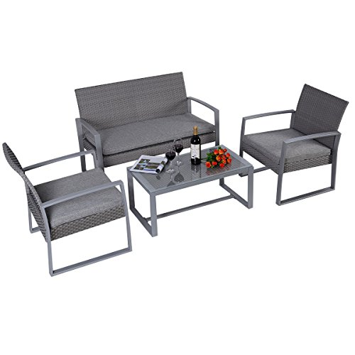 Polyrattan-Rattan-Set-Lounge-Gartenmbel-Garten-Sitzgruppe-Mbelgarnitur-Rattanmbel-Garnitur-Garten-Sitzgarnitur