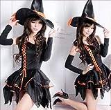 ◆小悪魔に変身◆ 魔女 コスプレ とんがり帽子  コスチューム 衣装 妖精 ハロウィン 仮装 パーティ イベント 忘年会 学園祭