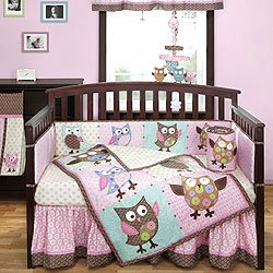Calico Owls 4 Piece Crib Bedding Set by Bananafish