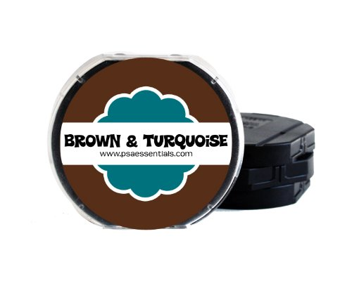 PSA Essentials 2-Color Ink Pad, Espresso/Turquoise