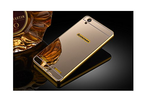 Taslar Luxury Mirror Metal Series Bumper Back Cover Case For Lenovo A6000 & Lenovo A6000 Plus (Silver)