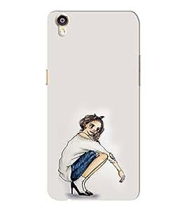 EPICCASE Trendy girl Mobile Back Case Cover For Oppo F1 Plus (Designer Case)