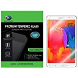 MAK-Premium Quality TEMPERED GLASS SCREEN PROTECTOR FOR SAMSUNG TAB S 8.4 INCH EXPLOSION PROOF TEMPERED GLASS FILM (0.3mm) Ultra Thin Lightweight Hardness up to 9H (SAMSUNG TAB S 8.4 INCH)