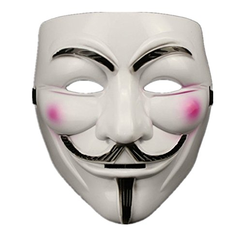 [10 Piece Anonymous V For Vendetta Guy Fawkes Fancy Dress Halloween Face Mask Adult Boy] (Period Piece Halloween Costumes)