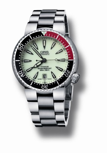 Oris Men's 733 7562 7159MB TT1 Divers Titanium Automatic Luminous Dial Watch