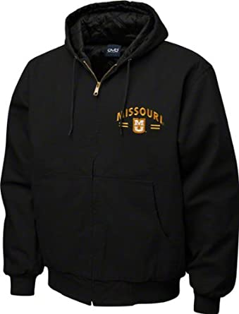 NCAA Missouri Tigers Cumberland Hooded Full Zip Lined Workwear Jacket Mens by Old Varsity