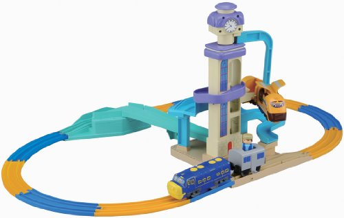 Chuggington Plarail Let`s Ride ! Lively Clock Tower Set (Tomica Plarail Model Train) (japan import)