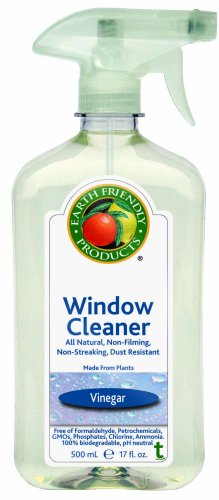 Earth Friendly Products Window Cleaner, Vinegar, 17-Ounce Bottle (Pack of 6)