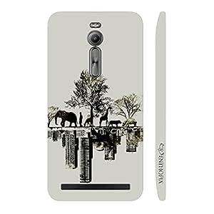 Enthopia Designer Hardshell Case Forest Vs City Back Cover for Asus Zenfone 2