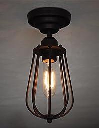 YanCui@ Vintage Simple mini Ceiling Lamp Flush Mount lights Entry Hallway Game Room Kitchen light Fixture , 110-120v