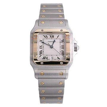Cartier Men's W20011C4 Santos Galbee Stainless Steel and 18K Gold Watch