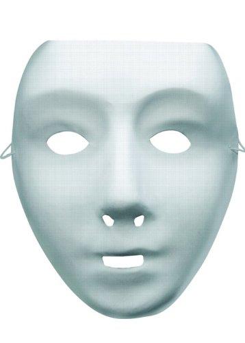 Halloween White Kunststoff Roboter-Maske