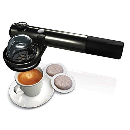 "Hand-Pump Portable Espresso Machine + Handpresso Carry Case + Evviva ""Carboil"" Car Electric Kettle"
