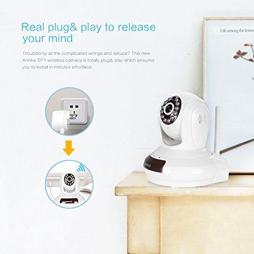 ANNKE SP1 HD 720P Baby Monitor,Cloud Network/Wireless IP Camera-White