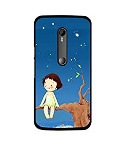 Crazymonk Premium Digital Printed Back Cover For Moto X Play