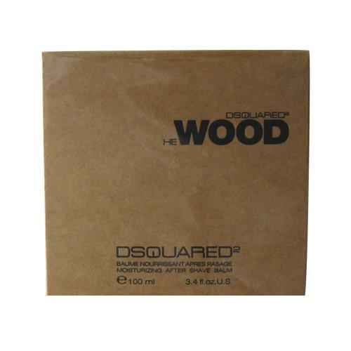 Dsquared He Wood Homme / Uomini, Balsamo Dopobarba, 1er Pack (1 x 100 ml)