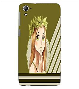 PrintDhaba Praying girl D-2380 Back Case Cover for HTC DESIRE 826 (Multi-Coloured)