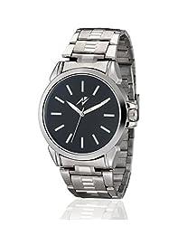 Yepme Men's Chain Watch - Black/Silver -- YPMWATCH2665