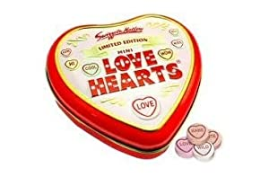 Love Heart Tin containing Mini Love Hearts