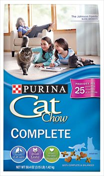 See Purina Cat Chow Complete Cat Food 3.15 lb (Pack of 6)