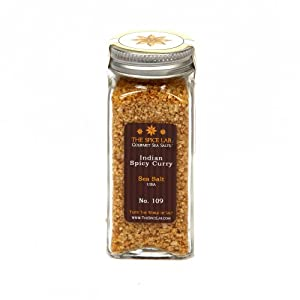 The Spice Lab Hot Spicy Curry Infused Sea Salt, 1-Count Packages (Pack of 4) from The Spice Lab