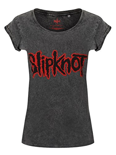 Slipknot -  T-shirt - Stampa  - Donna Nero  nero