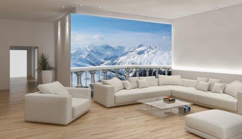 Fototapeten Winterlandschaft : 3D Schnee – baum Fototapeten Wandbild Fototapete Bild Tapete Familie