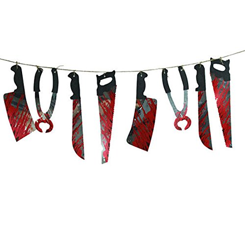 Spooky Halloween Party Haunted House Hanging Garland Pennant Banner Decoration (Haunted House Ideas For Halloween Party)