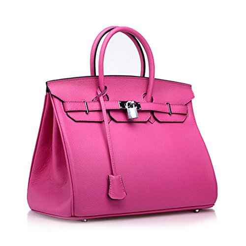 Kattee Women's Genuine Italian Leather Hobo Tote Handbag