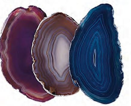 Agate Slice Assorted Colors Extra Small 2.5-5 sq. inches