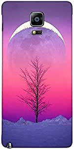 Snoogg Sky View 15 Case Cover For Samsung Galaxy Note Iiii / Note 4