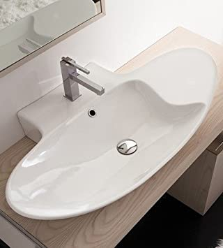 scarabeo zefiro 90 r mensola waschtisch wei 820001 us129. Black Bedroom Furniture Sets. Home Design Ideas