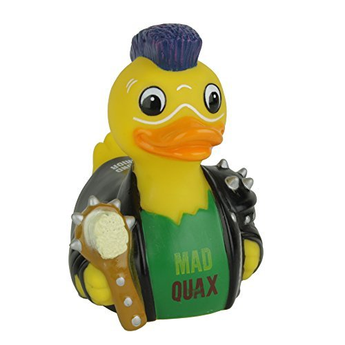 CelebriDucks Mad Quax The Pond Warrior RUBBER DUCK Bath Toy by CelebriDucks