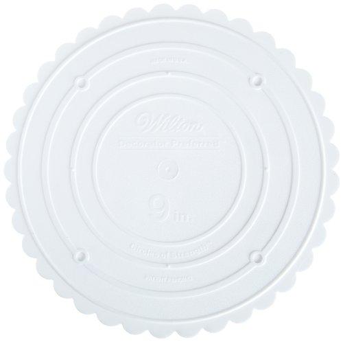 Tortenplatten rund, Bogenkante, weiss, D 22 cm