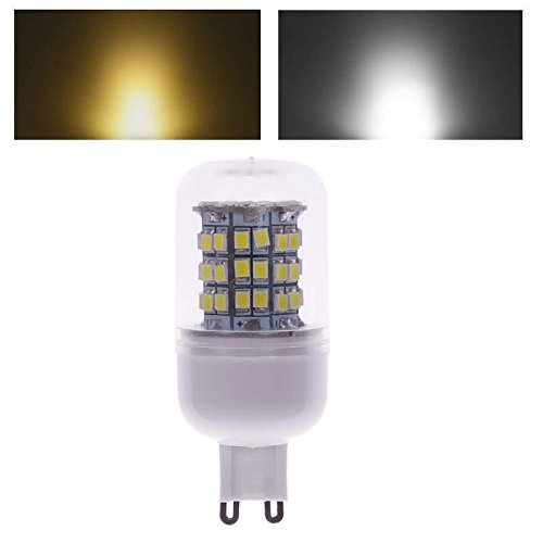 G9 60 Led Smd 2835 Corn Spot Light Lamp Bulb Warm Pure White W/ Cover 220V
