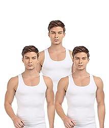 BLIVE Men's Premium Cotton Vest (3, XX-Large)