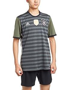 adidas Herren UEFA EURO 2016 DFB Auswärtstrikot Replica, dunkel grau/weiß/grün, 2XL, AA0110
