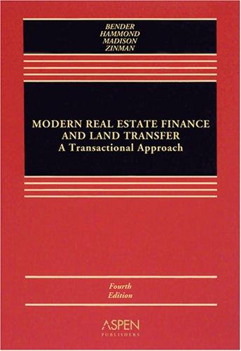 Modern Real Estate Finance & Land Transfer: Trans...