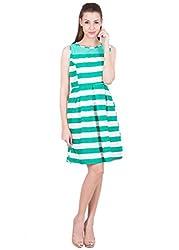 Ants Green & White Stripe Dress