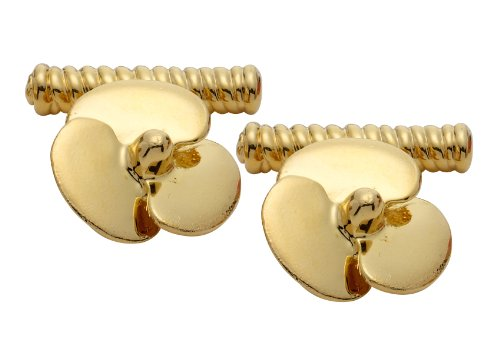 Code Red Gold Plated Propeller Cufflinks