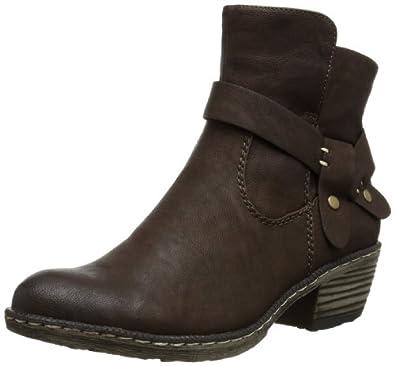 Rieker 93766-25, Damen Halbschaft Cowboystiefel, Braun (kakao / 25), 36 EU (3.5 Damen UK)