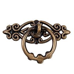 VORCOOL 10pcs Vintage Kitchen Knobs Cabinet Cupboard Door Drawer Pull Handles Knobs (Antique Brass)
