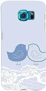 PrintVisa Pattern Cute Birds Blue Case Cover for Samsung Galaxy Note 5 Edge