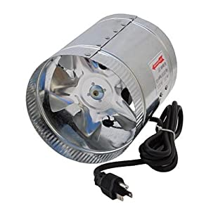 LEDwholesalers GYO2402 6-Inch 240 CFM Air Duct Inline Hydroponic Booster Fan
