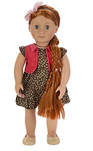 Our Generation From Hair to There 18-Inch Peyton Doll with Extendable Hair and Style Guide in Darling Flower Print Outfit (Metal Doll Hair Brush compare prices)