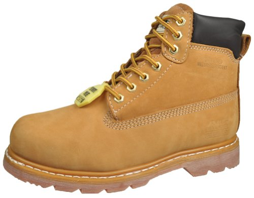 Air Balance Men's Durable Nubuck Leather Steel Toe - Slip Resistant Insulated Work Boots