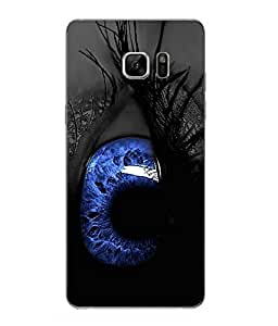 Case Cover Eyes Printed Black Hard Back Cover For Samsung Galaxy Note 7