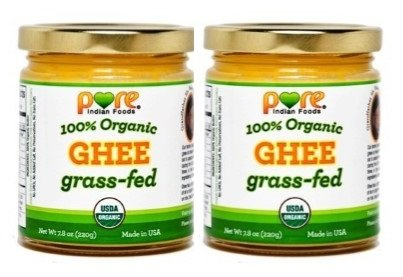 Grassfed Organic Ghee 7.8 Oz - Pure Indian Foods(R) Brand (2-Pack)