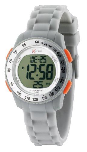 Sector - R3251572315 - Expander - Montre Mixte - Quartz Digital - Cadran Blanc - Bracelet Silicone Gris