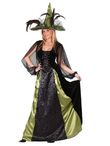 Classic Witch Goth Maiden Plus Size Theatre Costumes